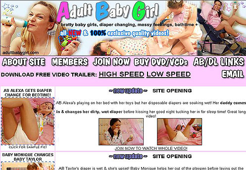 BUY THE DVD MOVIES, ABDL adult baby girls & diaper lover fetish videos